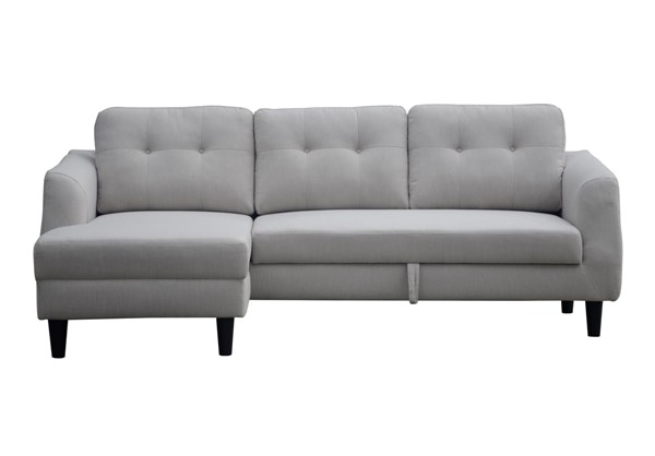 Moes Home Belagio Beige Fabric Sofa Bed with Left Chaise MOE-MT-1019-34-L
