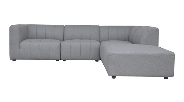 Moes Home Lyric Grey Fabric 5pc Sectionals MOE-MT-1022-LR-S-V3