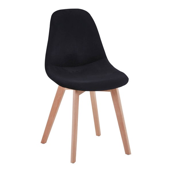 2 Moes Home Donatello Black Dining Chairs MOE-OK-1003-02