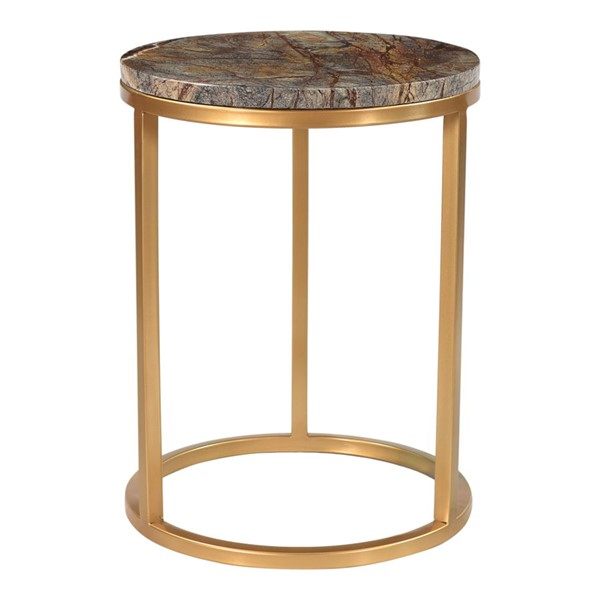 Moes Home Canyon Brass Antique Coffee Accent Table MOE-PJ-1019-03