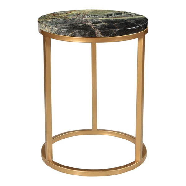 Moes Home Canyon Brass Antique Forest Accent Table MOE-PJ-1019-16