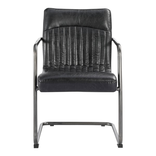 2 Moes Home Ansel Black Dining Arm Chairs MOE-PK-1052-02