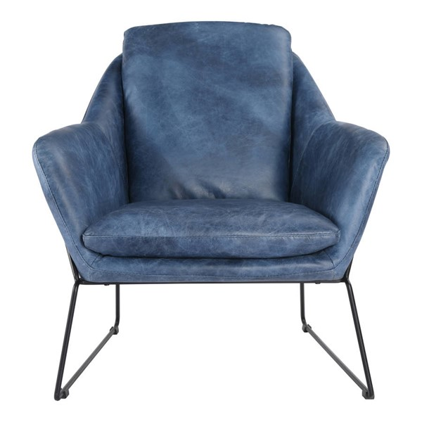 Moes Home Greer Dark Blue Club Chair MOE-PK-1056-19