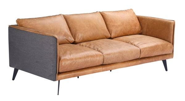 Moes Home Messina Sierra Leather Sofa MOE-PK-1097-23