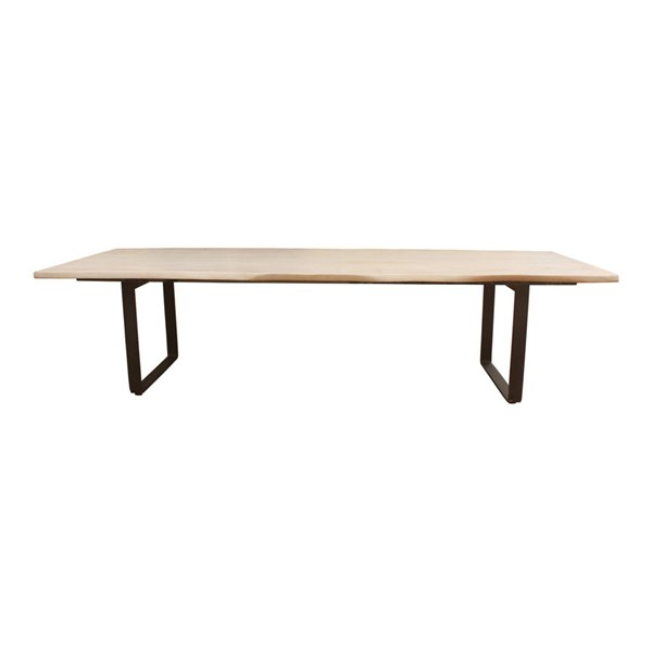 Moes Home Wilks White Wood Dining Table MOE-PP-1014-18