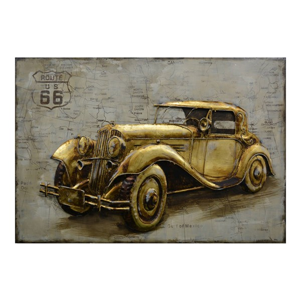 Moes Home Gold Route 66 Wall Decor MOE-PR-1025-32