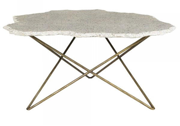 Moes Home Positano White 3pc Terrazzo Coffee Table Set MOE-QJ-101-OCT-S1