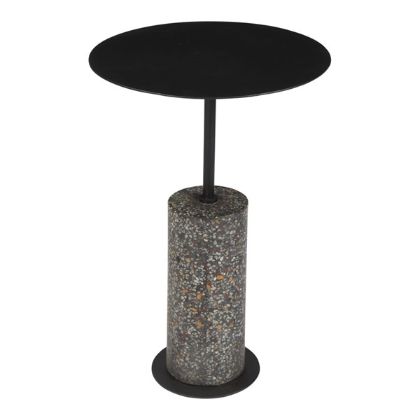 Moes Home Lillith Matte Black Accent Table MOE-QJ-1018-02