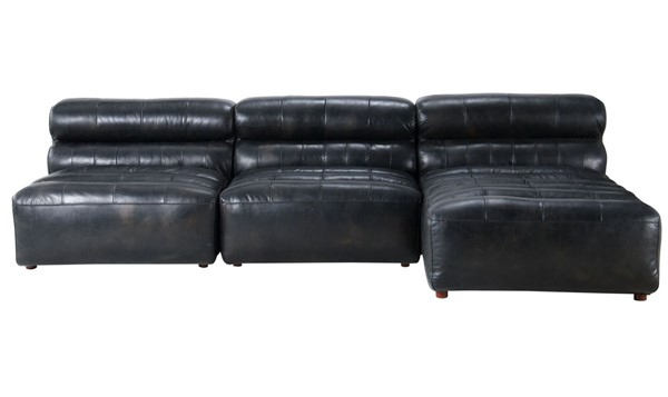 Moes Home Ramsay Black Leather Modular Sectional MOE-QN-1018-01