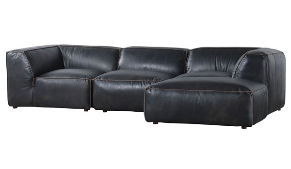 Moes Home Luxe Antique Black Lounge Modular Sectional MOE-QN-1023-01