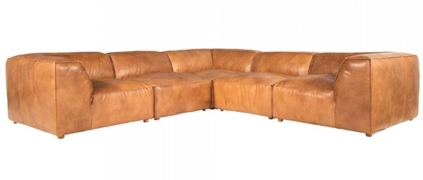 Moes Home Luxe Tan Classic L Modular Sectional MOE-QN-1025-40