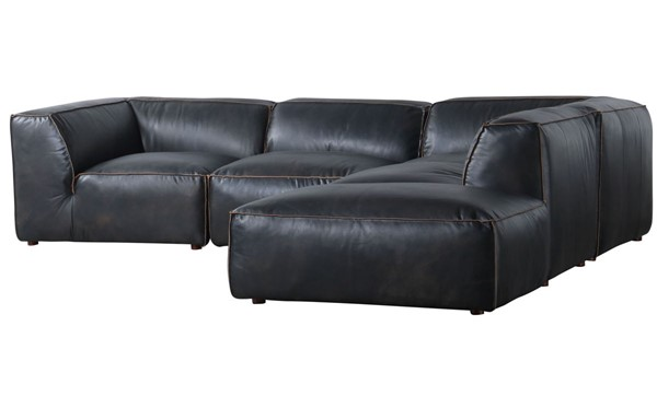 Moes Home Luxe Antique Black Dream Modular Sectional MOE-QN-1026-01