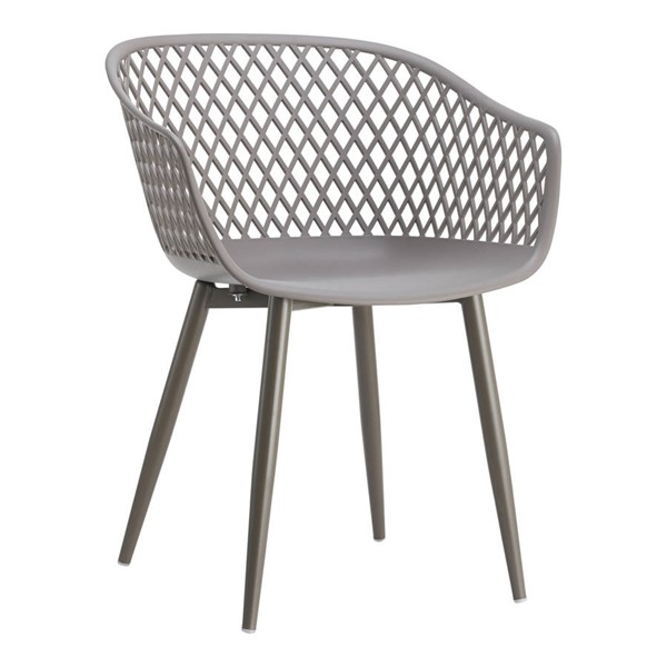 2 Moes Home Piazza Modern Grey Outdoor Chairs MOE-QX-1001-15
