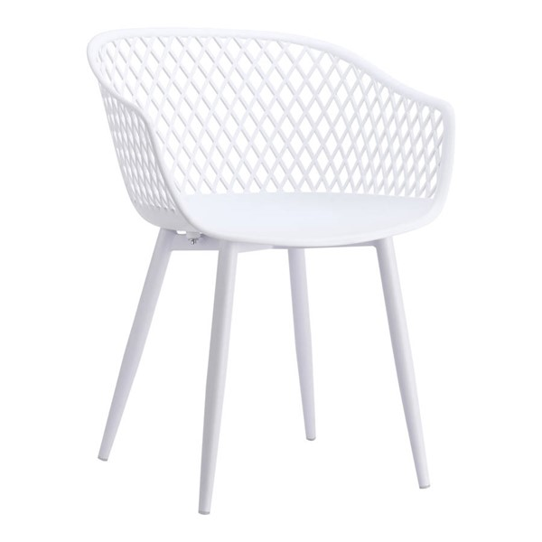 2 Moes Home Piazza Modern White Outdoor Chairs MOE-QX-1001-18