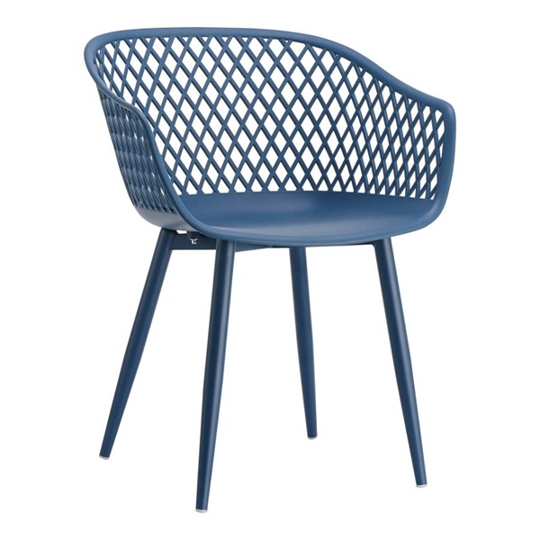 2 Moes Home Piazza Modern Blue Outdoor Chairs MOE-QX-1001-26