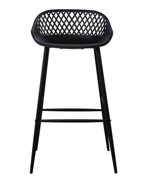 2 Moes Home Piazza Black Outdoor Bar Stools MOE-QX-1004-02