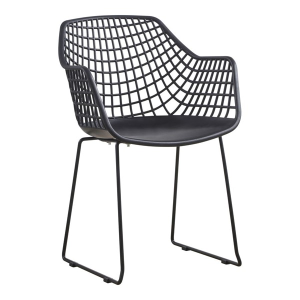 2 Moes Home Honolulu Plastic Chairs MOE-QX-1007-OUTDOOR-DR-CH-VAR