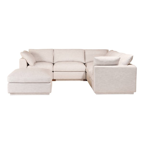 Moes Home Justin Taupe Modular Sectional MOE-RN-1098-39