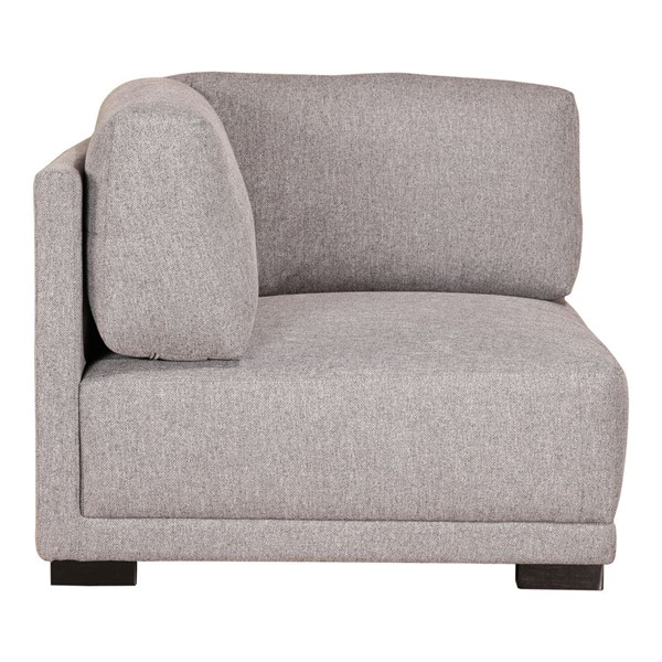 Moes Home Romeo Light Grey Fabric Corner Chair MOE-RN-1114-29