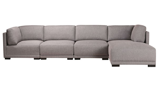 Moes Home Romeo Light Grey Polyester Modular Right Sectional MOE-RN-1120-29