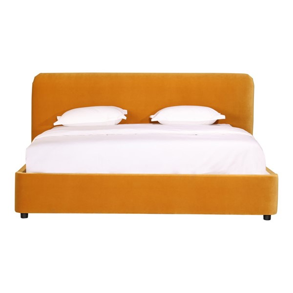 Moes Home Samara Yellow Polyester Queen Bed MOE-RN-1125-09