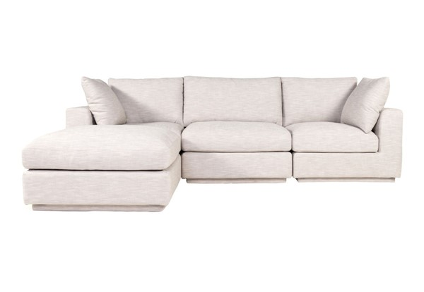 Moes Home Justin Taupe Fabric Lounge Modular Sectional MOE-RN-1131-39