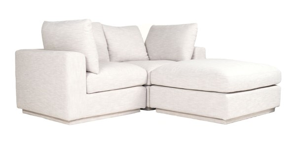 Moes Home Justin Taupe Fabric Nook Modular Sectional MOE-RN-1132-39