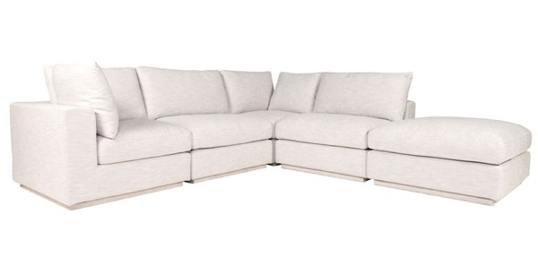 Moes Home Justin Taupe Fabric Dream Modular Sectional MOE-RN-1134-39