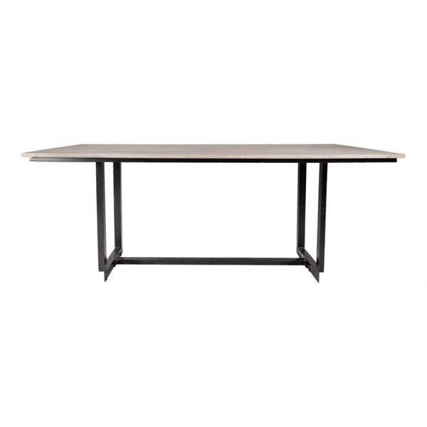 Moes Home Tiburon Light Grey Wood Rectangular Dining Table MOE-SR-1071-29