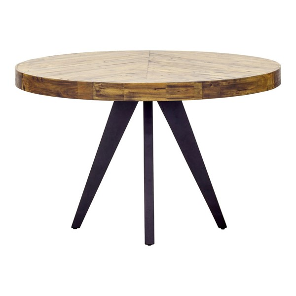 Moes Home Parq Cappuccino Round Dining Table MOE-TL-1010-14