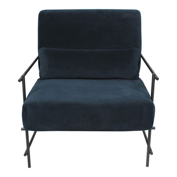 Moes Home Collins Dark Blue Polyester Arm Chair MOE-TY-1031-19