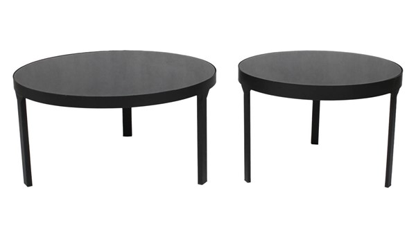 Moes Home Cristiano Black 2pc Cocktail Table MOE-TY-1034-02