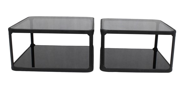 Moes Home Branco Black Square 2pc Cocktail Table Set MOE-TY-1035-02