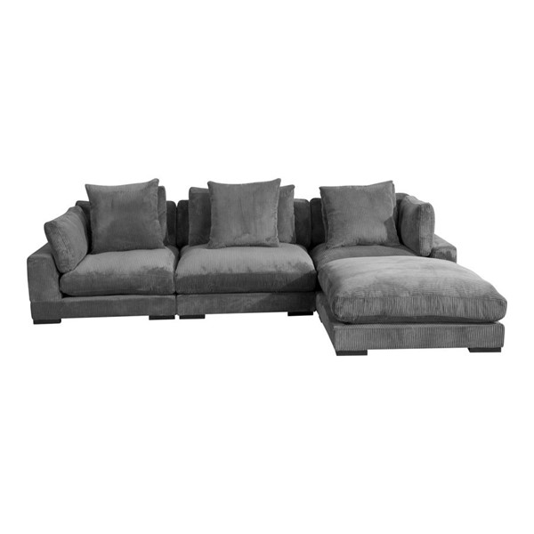 Moes Home Tumble Dark Grey Fabric Modular 4pc Sectional MOE-UB-1012-25