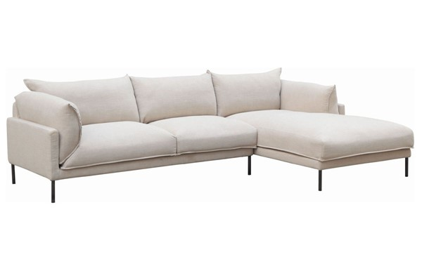 Moes Home Jamara Light Grey Right Facing Sectional MOE-UB-1016-29-R