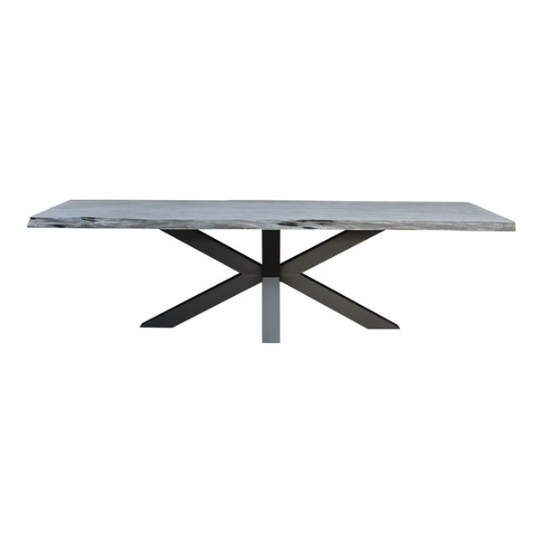 Moes Home Edge Grey Wood Large Dining Table MOE-UH-1019-29