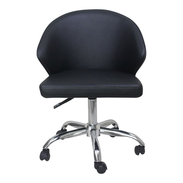 Moes Home Albus Black PU Swivel Office Chair MOE-UU-1015-02