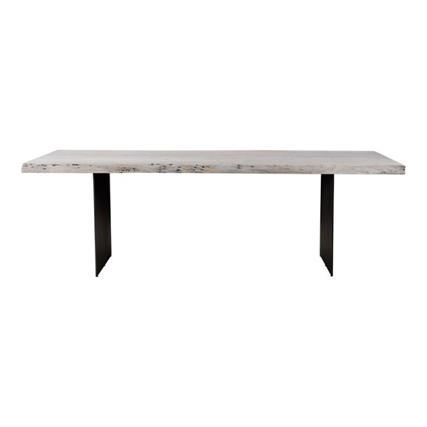 Moes Home Evans White Wood Dining Table MOE-VE-1085-18