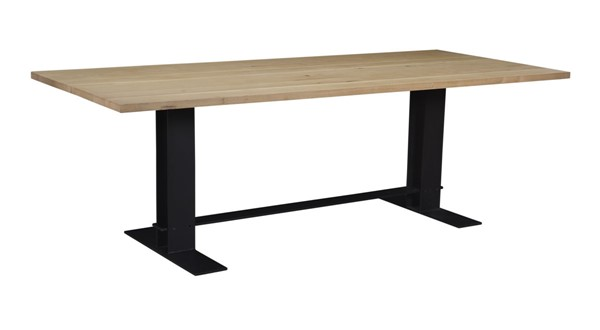 Moes Home Massimo White Black Brown Wood Dining Table MOE-VE-1091-24