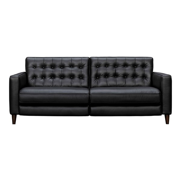 Moes Home Russell Black Polyester Reclining Sofa MOE-VI-1141-02