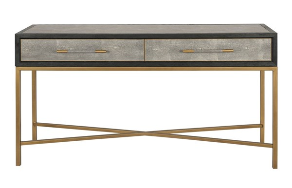 Moes Home Mako Grey Solid Oak Console Table MOE-VL-1049-15