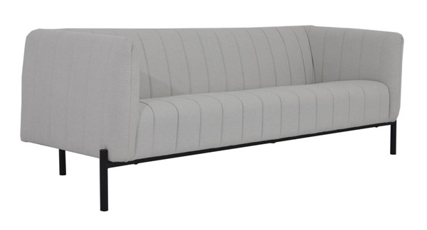 Moes Home Jaxon Modern Light Grey Fabric Sofa MOE-VV-1002-29