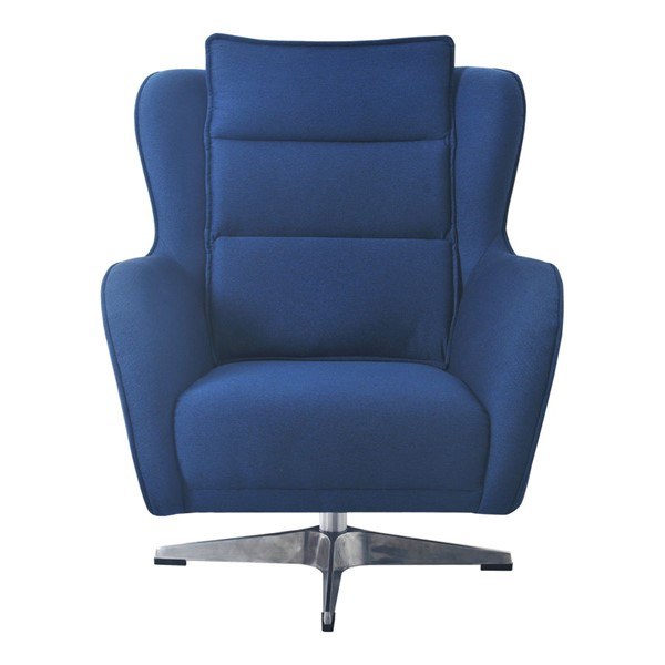 Moes Home Revolve Blue Fabric Swivel Chair MOE-VV-1004-26