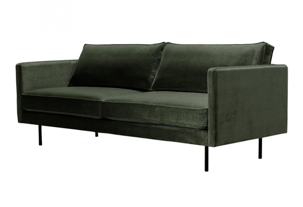 Moes Home Raphael Dark Green Fabric Sofa MOE-WB-1002-27
