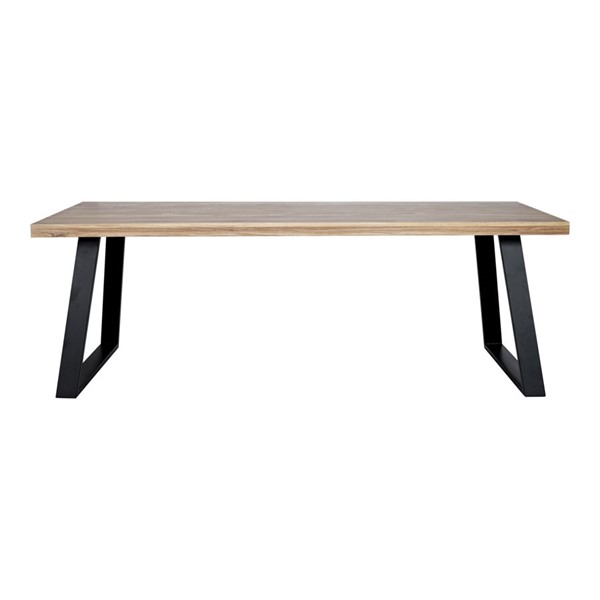 Moes Home Mila White Black Wood Rectangle Dining Table MOE-YC-1001-24