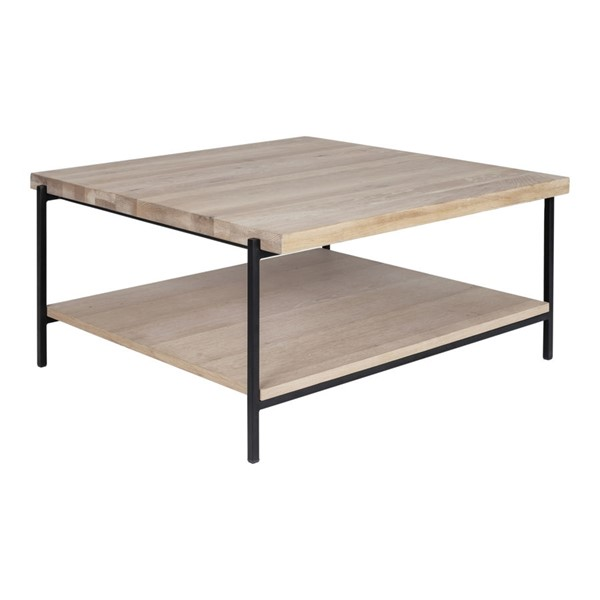 Moes Home Mila White Black Wood Coffee Table MOE-YC-1003-24