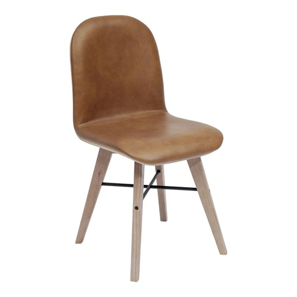 2 Moes Home Napoli Camel Grain Leather Dining Chairs MOE-YC-1006-40