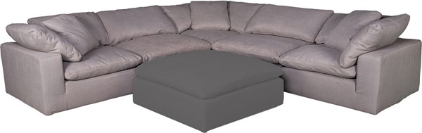 Moes Home Clay Light Grey Fabric Livesmart Modular Sectional MOE-YJ-1003-29-SEC-S2