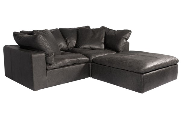 Moes Home Clay Black Grain Leather Modular Sectional MOE-YJ-1009-02