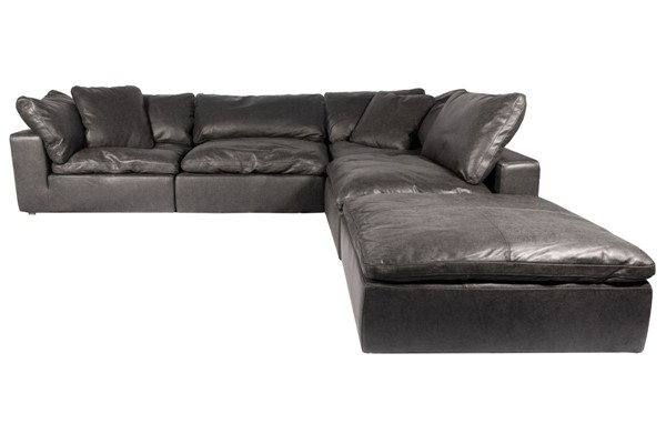 Moes Home Clay Black Grain Leather Dream Modular Sectional MOE-YJ-1011-02